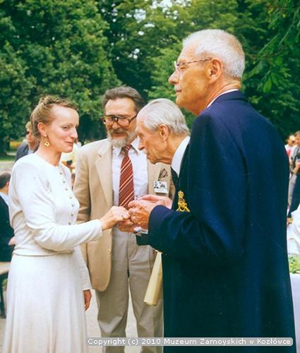 Marek Kszysztof Kaszycki z żoną oraz Jan Zamoyski i Adam Zamoyski