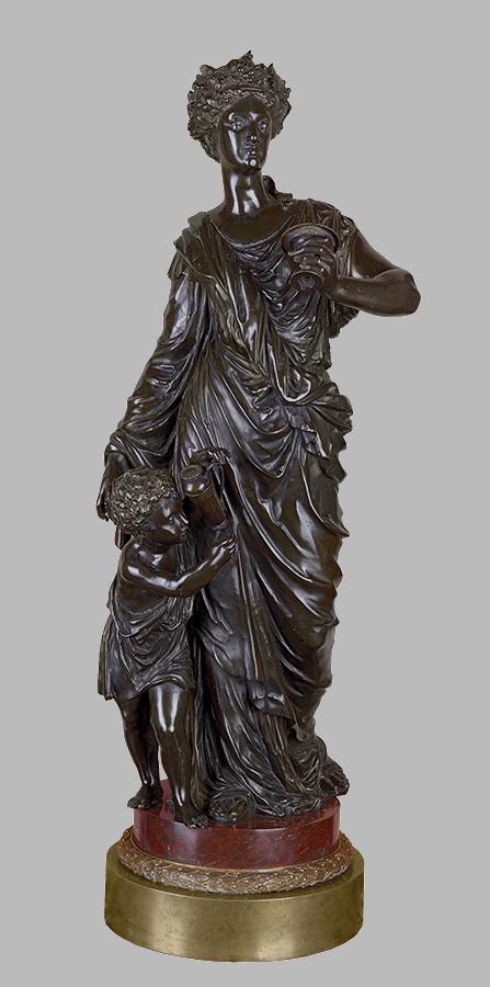 Joseph Charles Marin (?), Jesień, XIX w., brąz, odlew
