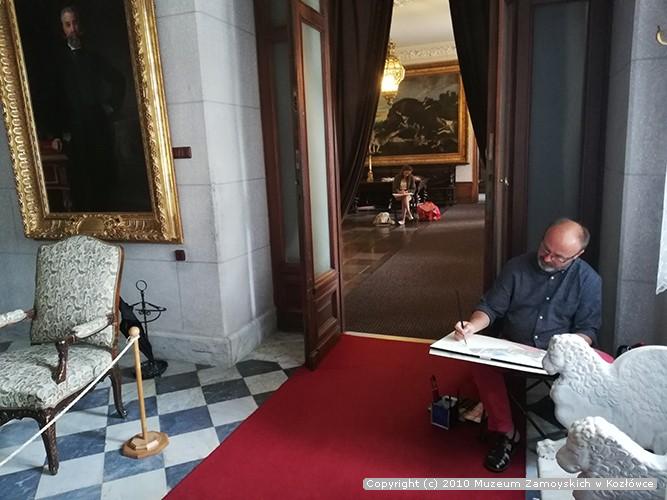Plener rysunkowo-malarski w Kozłówce