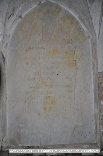 kaplica grobowa Zamoyskich na cementarzu w Kamionce