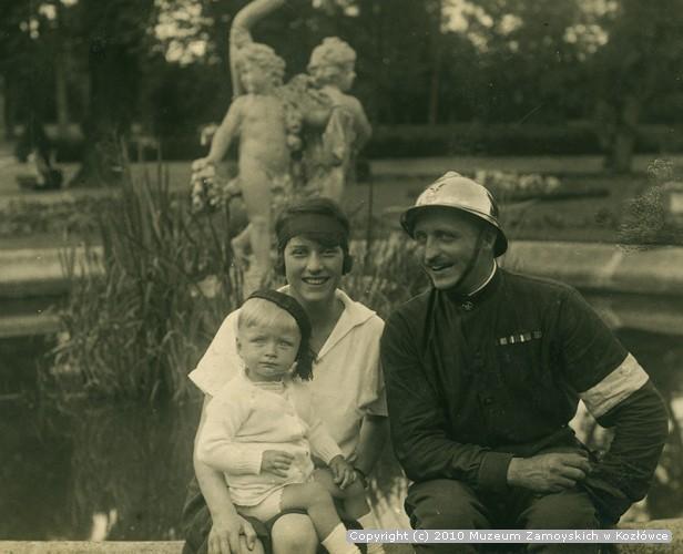 Aleksander Leszek Zamoyski z żoną i synem