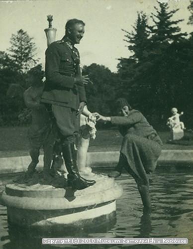 Aleksander Leszek Zamoyski z żoną