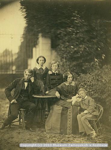 Jan Zamoyski z rodziną